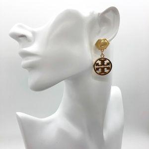 Tory Burch T Logo Drop Earrings Gold